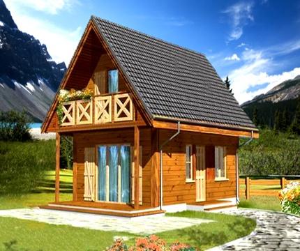 Деревянный дом, дом из бруса